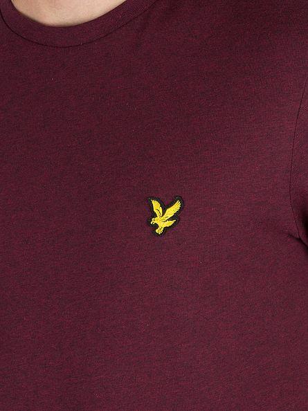 Lyle & Scott Claret Marl Logo T-Shirt