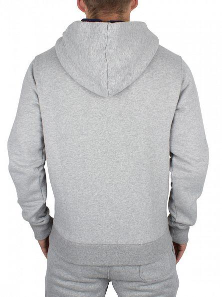 Fila Vintage Grey Twist Bagnoli Logo Zip Hoodie