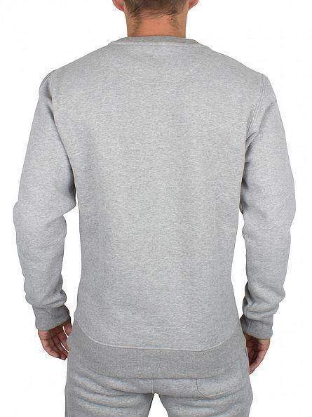 Fila Vintage Grey Twist Brixen Logo Sweatshirt