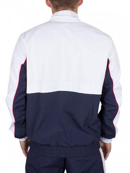 Fila Vintage White Kekova Logo Zip Track Jacket