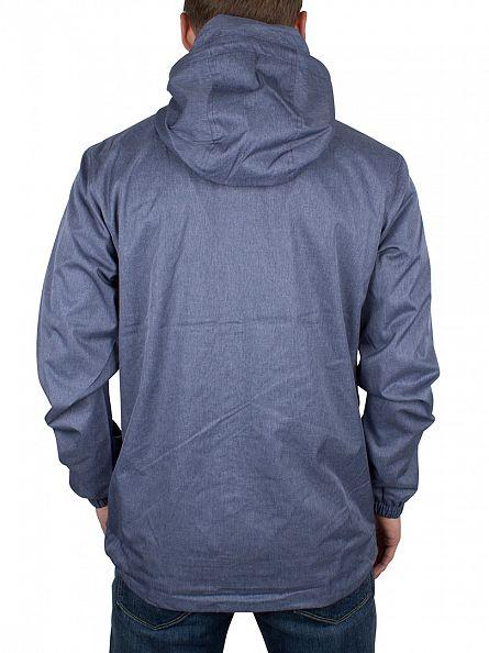 Lyle & Scott Blue Marl Logo Zip Through Hooded Jacket