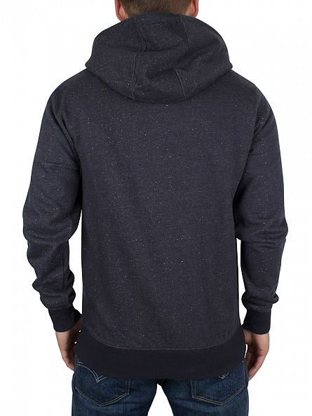 Only & Sons Dark Navy Fiske Flecked Zip Hoodie