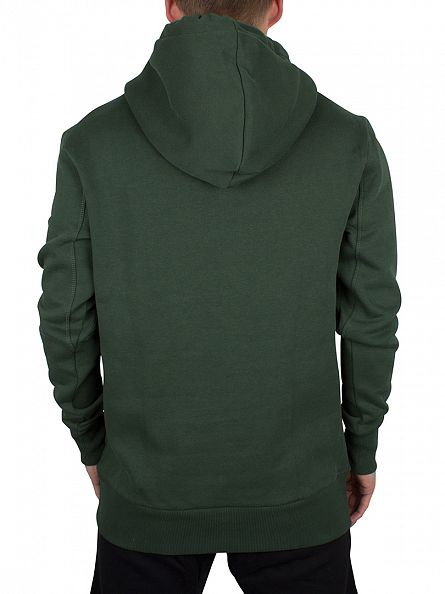 Sik Silk Forest Green Logo Overhead Hoodie