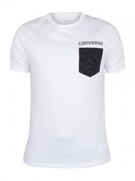 Converse White Reflective Rain Pocket T-Shirt