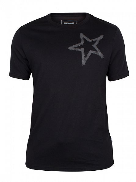 Converse Black Reflective Tape Star CP Logo T-Shirt