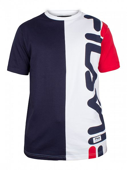 Fila Vintage Peacoat Cambiasso Interlock Vertical T-Shirt