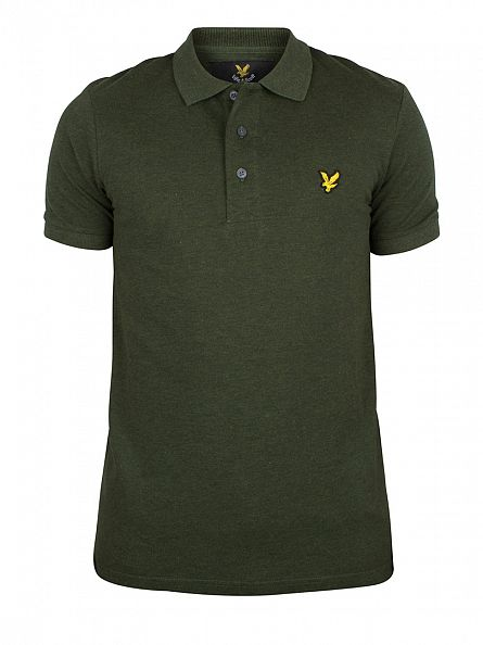 Lyle & Scott Dark Sage Marl Logo Polo Shirt