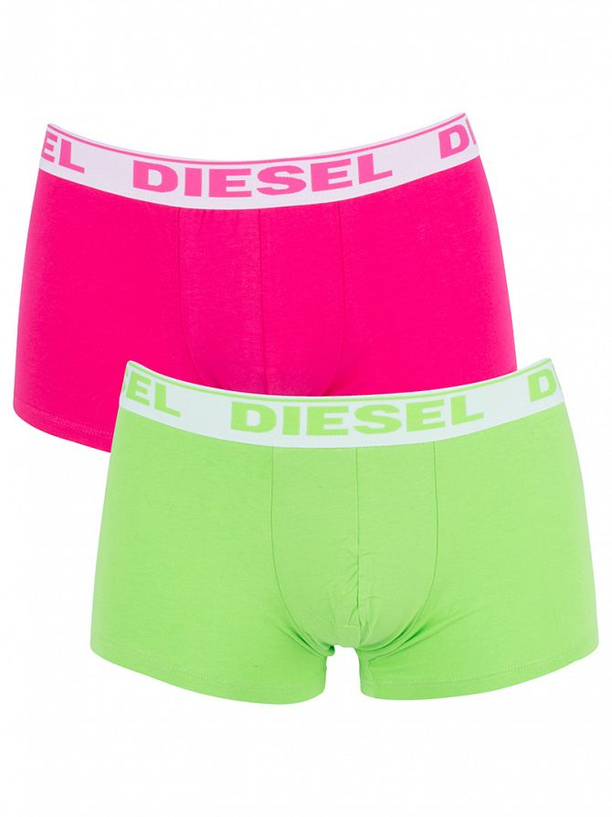 Diesel Green/Pink UMBX 2 Pack Fresh & Bright Trunks