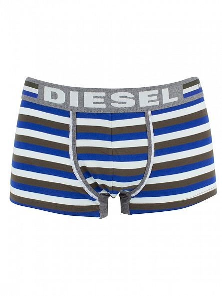 Diesel Blue UMBX Hero Fit Striped Trunks
