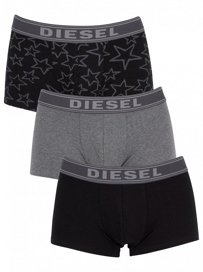 Diesel Grey/Black UMBX Shawn 3 Pack Trunks