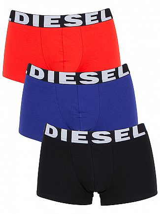 Diesel Black/Blue/Red UMBX Shawn 3 Pack Trunks
