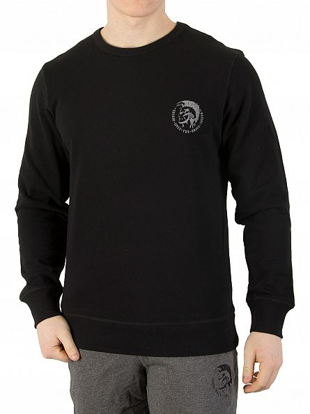 Diesel Black UMLT Willy Logo Sweatshirt