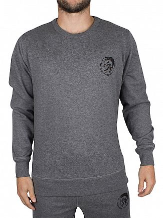 Diesel Grey Marl UMLT Willy Logo Sweatshirt