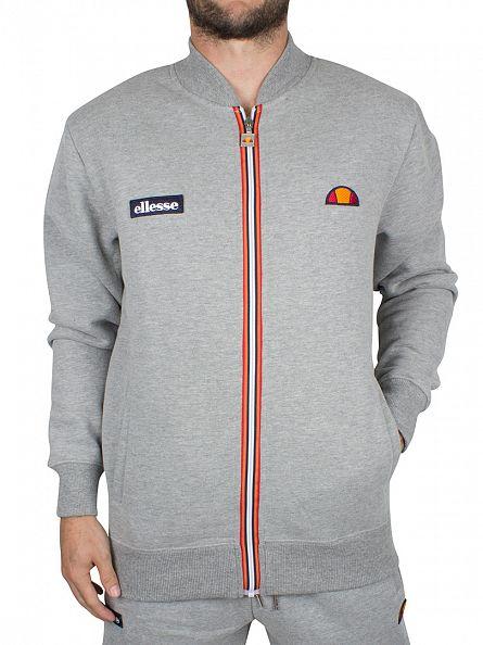Ellesse Athletic Grey Marl Allevi Logo Track Top Jacket