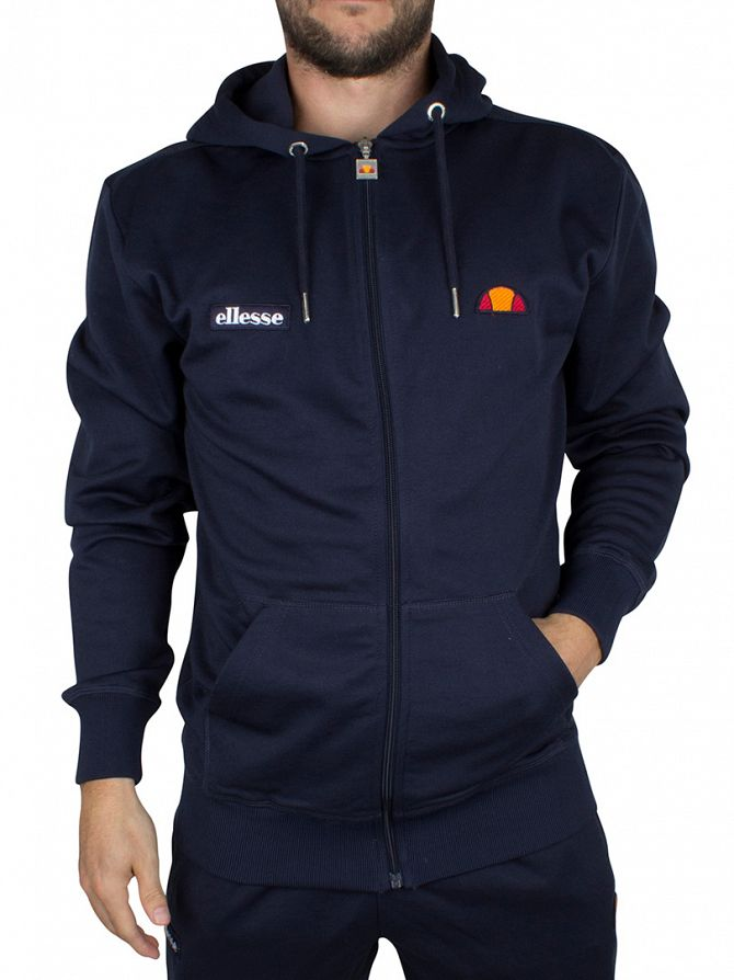 Ellesse Dress Blues Cervo FZ Poly Logo Zip Hoodie