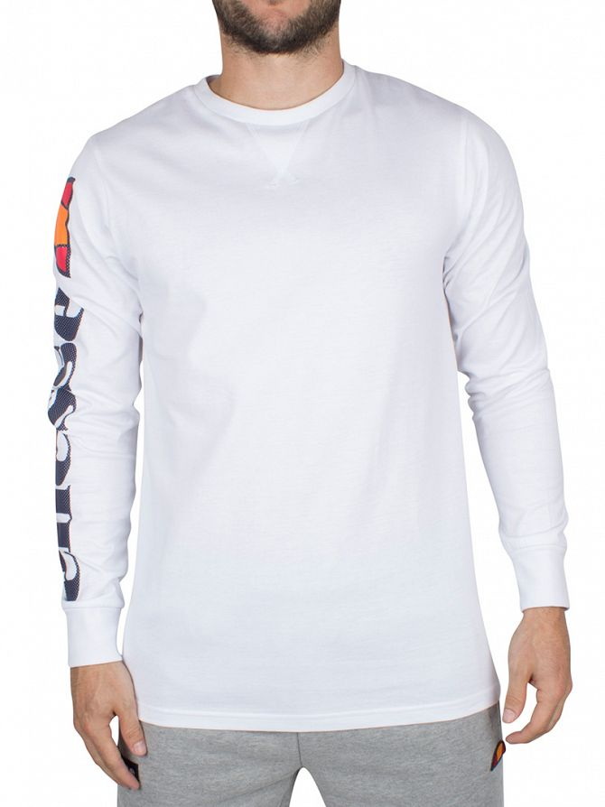 Ellesse Optic White Pericoli Longsleeved Logo T-Shirt