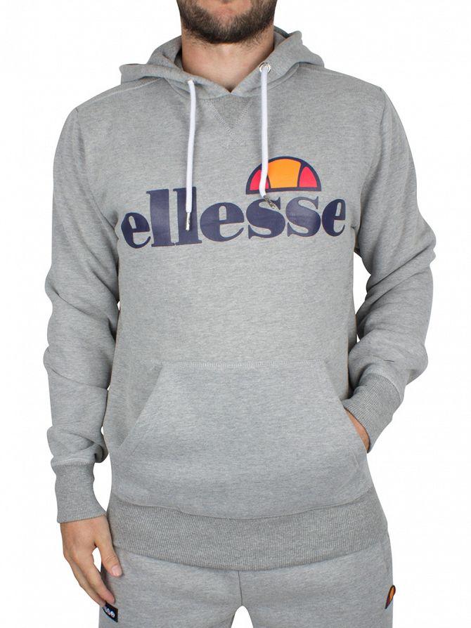 Ellesse Athletic Grey Marl Toppo OH Graphic Hoodie