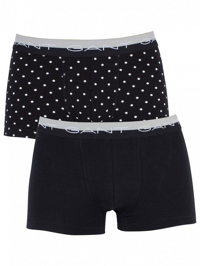Gant Black 2 Pack Polka Dot Trunks