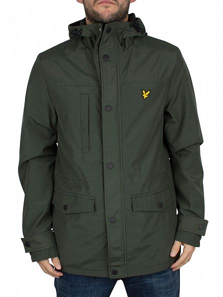 Lyle & Scott Dark Sage Microfleece Lined Logo Jacket