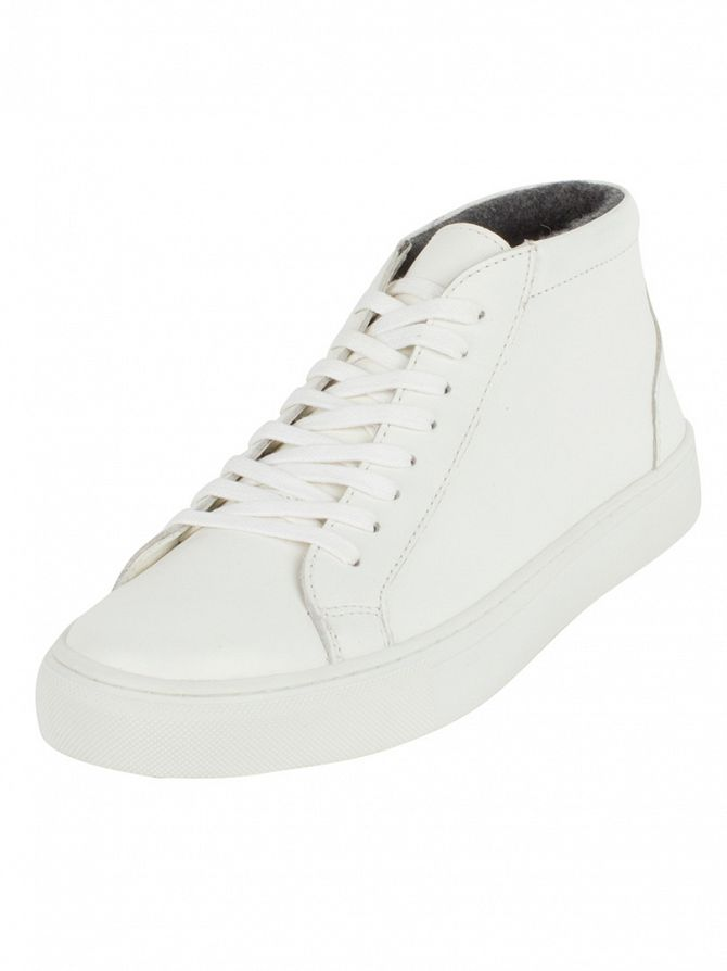Lyle & Scott White Moray Leather Trainers