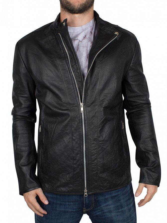 Religion Black Crea Leather Jacket