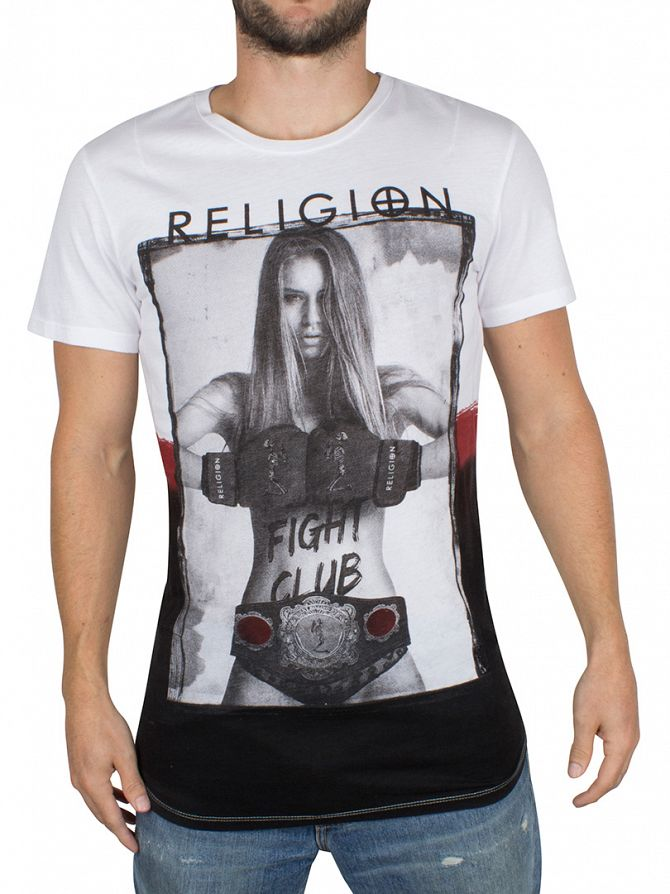 Religion White Fight Club Graphic T-Shirt