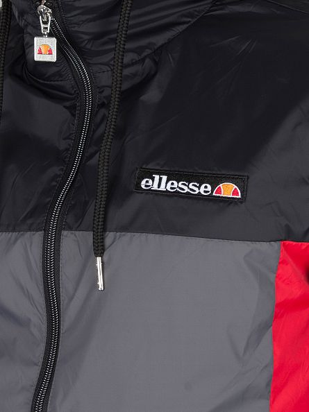 Ellesse Anthracite Herens Panel Poly Logo Jacket