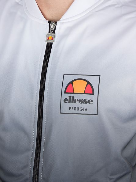 Ellesse Optic White Jaynefi Fade Logo Track Top Jacket