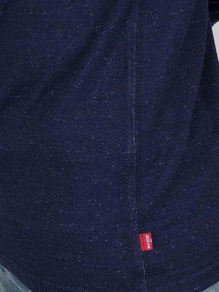 Levi's Blue Longsleeved Bryant Henley 2 Flecked Sweatshirt