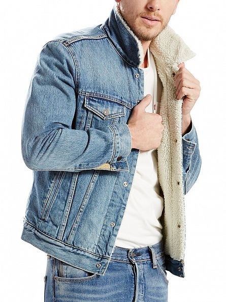 Levi's Light Aged Type 3 Buckman Sherpa Trucker Jacket