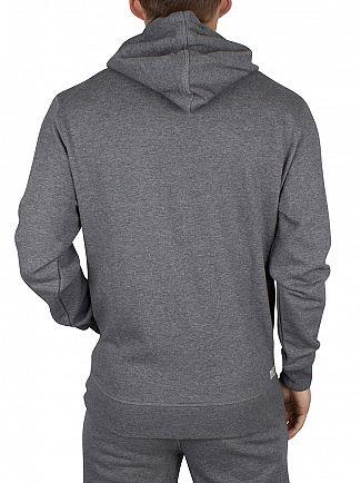 Diesel Grey Marl UMLT Brandon Logo Zip Hoodie