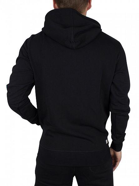 Diesel Black UMLT Brandon Logo Zip Hoodie