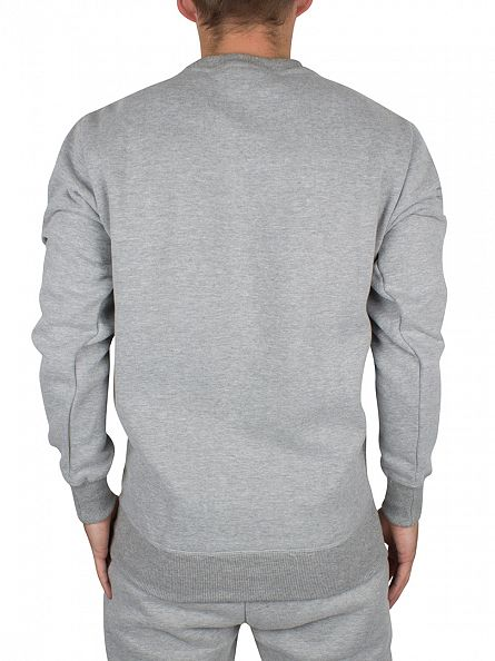 Ellesse Athletic Grey Marl Claviano Graphic Sweatshirt
