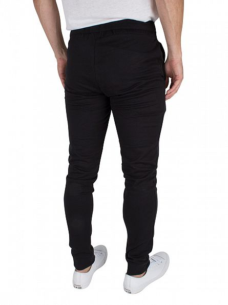 Jack & Jones Black Identity Tight Fit Logo Joggers