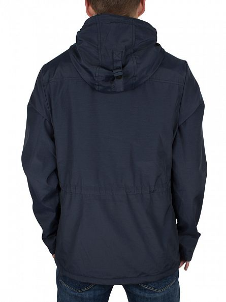 Lyle & Scott Navy Microfleece Lined Logo Jacket