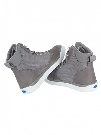 Palladium Titanium/White Pallarue Hi Cuff WP Boots