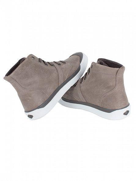Palladium Iron/White Pallarue Hi Leather Boots