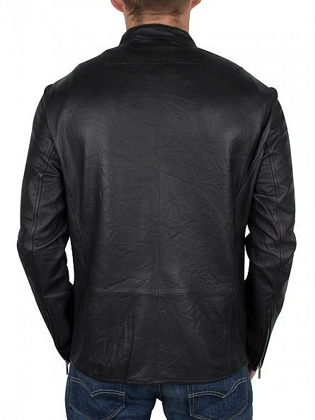 Religion Black Crea Leather Jacket