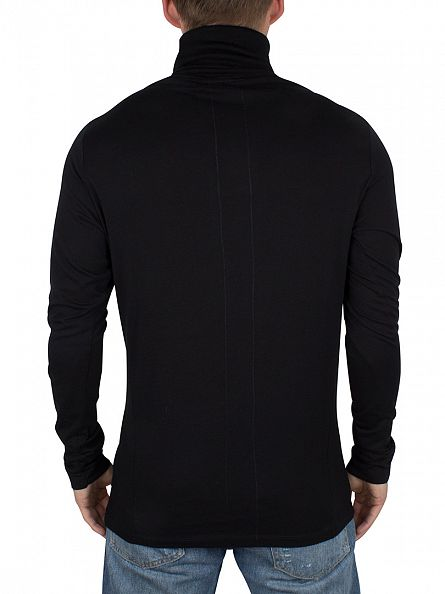 Religion Black Longsleeved Overdrive Roll Neck T-Shirt