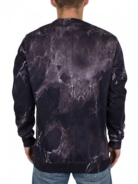 Religion Black Marble Sublimation Logo Sweatshirt