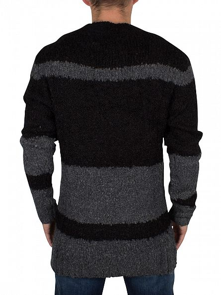 Religion Charcoal/Black Stones Striped Knit