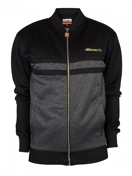 Ellesse Anthracite Buffon Panel Track Top Jacket