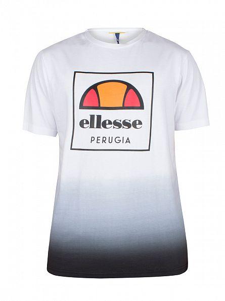 Ellesse Optic White Gattono Square Fade Logo T-Shirt