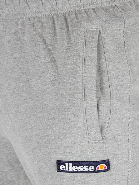 Ellesse Athletic Grey Marl Isetta Fleece Logo Joggers