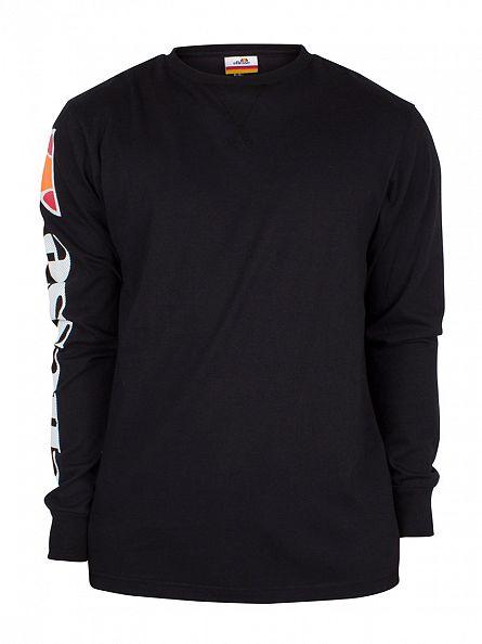 Ellesse Anthracite Pericoli Longsleeved Logo T-Shirt