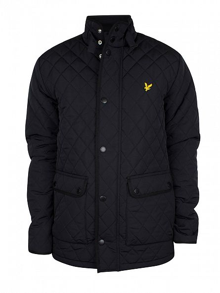 Lyle & Scott True Black Quilted Logo Jacket