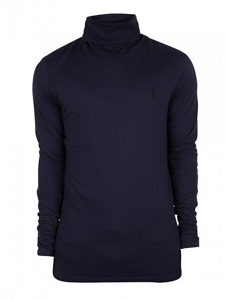 Religion French Navy Longsleeved Overdrive Roll Neck T-Shirt