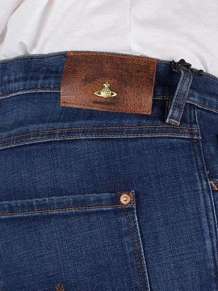 Vivienne Westwood Blue Denim New Classic Tapered Jeans