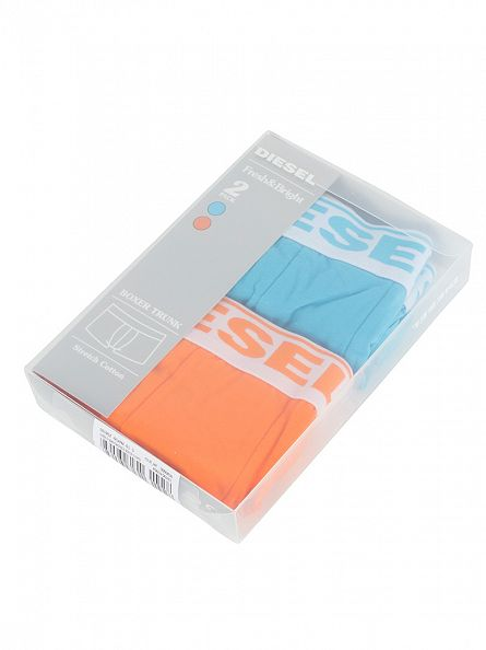 Diesel Light Blue/Orange UMBX 2 Pack Fresh & Bright Trunks