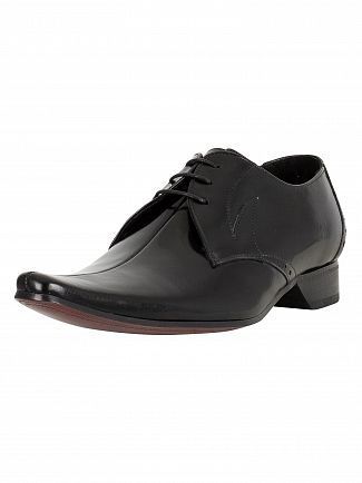 Jeffery West College Black Pino Polished Shoes